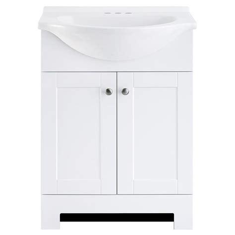 style selections euro white single sink vanity  white