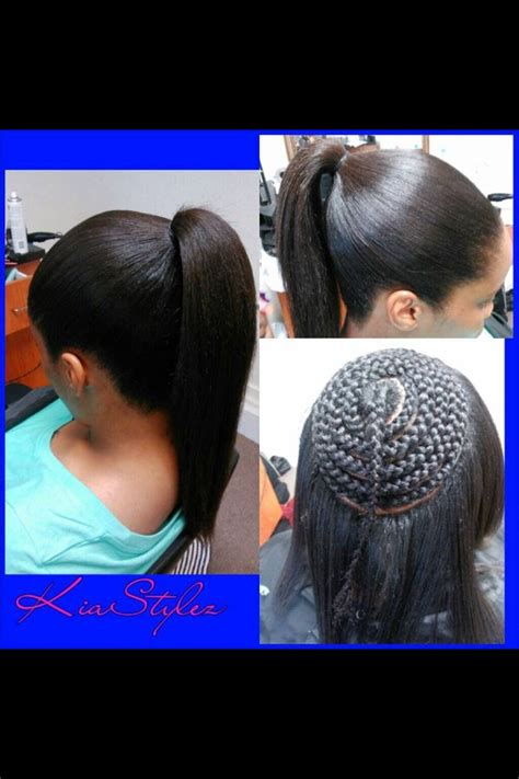 Sew In Ponytail Hairstyles by Sew In Pony I Would Like To Try This When My Hair