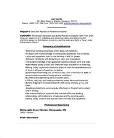 Power Resume Format by Lineman Resume Template 6 Free Word Documents