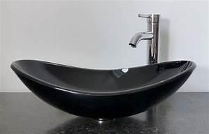 Waschbecken Oval Aufsatz : nero badshop aufsatz glas waschbecken schwarz oval ~ A.2002-acura-tl-radio.info Haus und Dekorationen