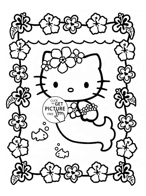 Mermaid Coloring Pages For Kids Printable Free Coloring Page
