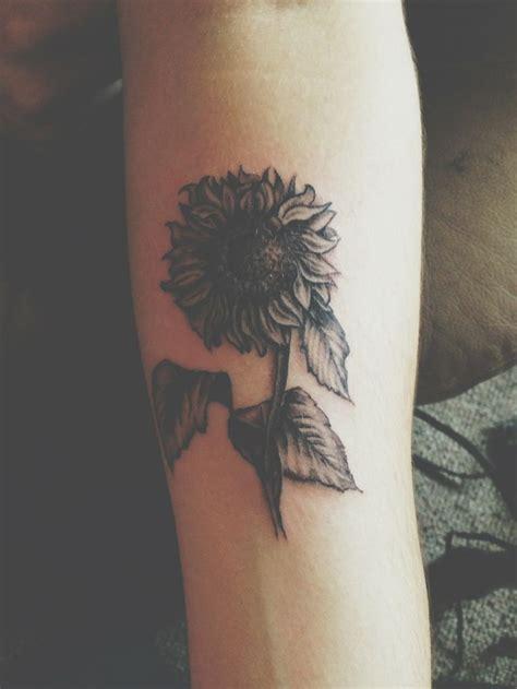 simple black sunflower tattoojpg