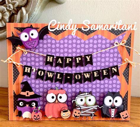 cricut maker halloween owls card   owl card halloween owl decor crafts