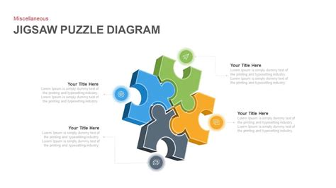 jigsaw puzzle diagram powerpoint template  keynote