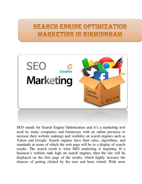 Search Engine Optimisation Marketing by Search Engine Optimization Marketing In Birmingham