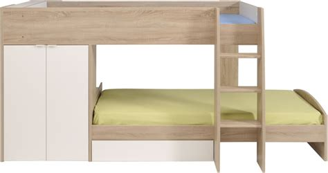 parisot bunk bed parisot stim bunk bed with 2 door wardrobe the home and