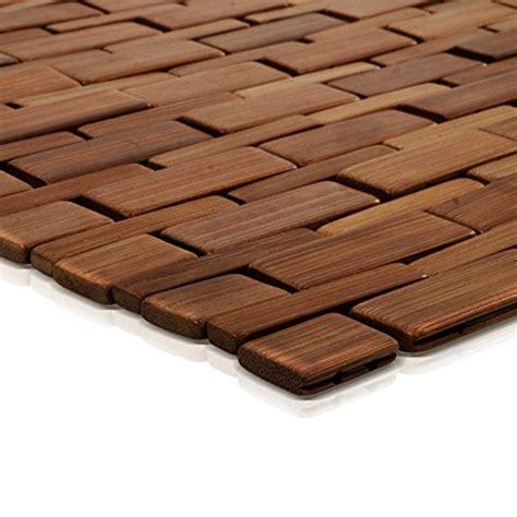 tapis de bain casa pura mia en bambou tapis de sauna