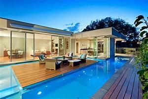 maison contemporaine avec piscine 02 With maison design avec piscine