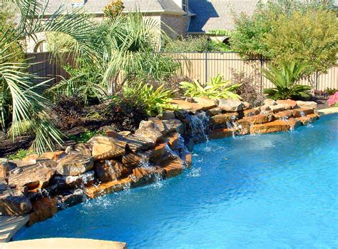 Swimming Pools With Rock Waterfalls Pictures-pixelmari.com