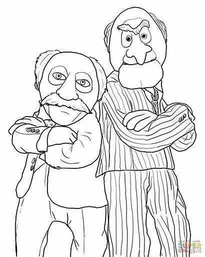 Waldorf Statler Coloring Pages Muppet Muppets Printable