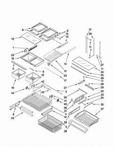Shelf Parts Diagram  U0026 Parts List For Model Mff2558vem4