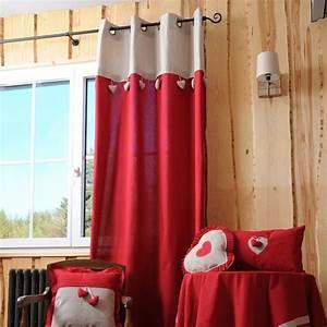 Rideau Voilage Rouge : rideau 135 x h260 cm joliesse rouge rideau tamisant eminza ~ Teatrodelosmanantiales.com Idées de Décoration