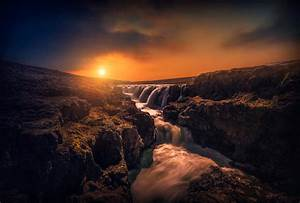 Waterfall, Sun, Rays, Nature, Landscape, Sunlight, Wallpapers, Hd, Desktop, And, Mobile, Backgrounds