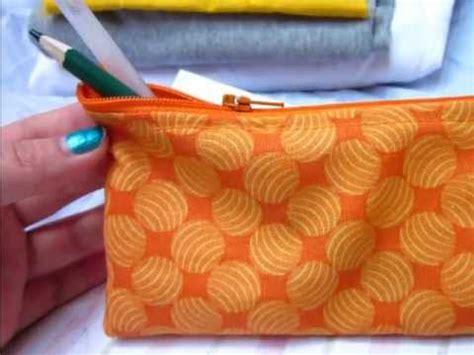 zipper pencil case tutorial sew easy  youtube