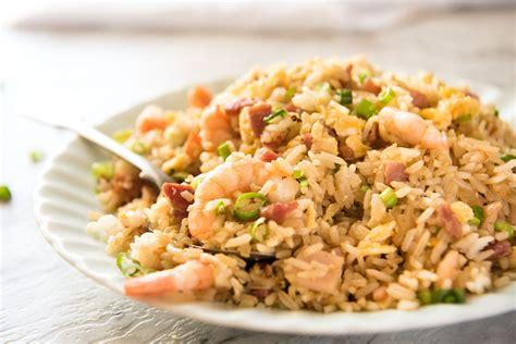 rice cuisine fried rice with shrimp prawns recipetin eats