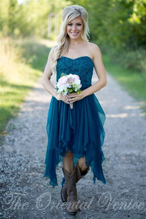 country short bridesmaid dresses  cheap teal chiffon