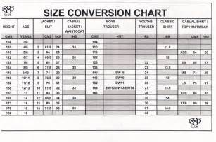 Boys Suit Size Chart