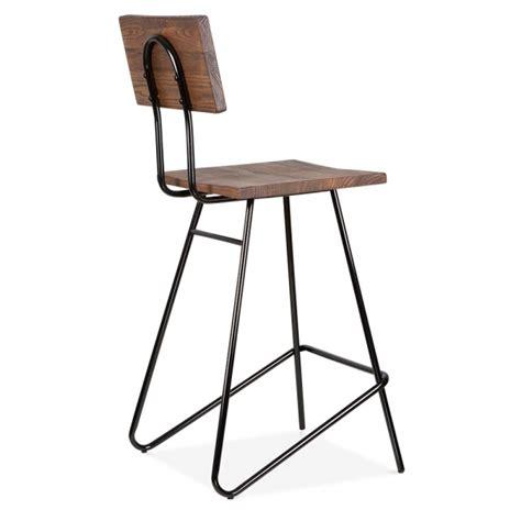 chaise cuisine noir tabouret de bar transit avec siège en bois par cult living cult uk