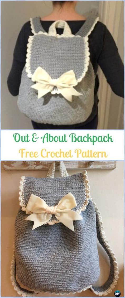 crochet backpack  patterns  big kidsadults