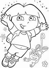 Dora Coloring Pages Explorer Printable Sheets Halloween Happy Birthday Boots Activity Monkey Pumpkin Worksheets Christmas Books Crafts Preschool Toddler Kindergarten sketch template