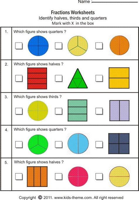 fractions  images fractions fractions worksheets