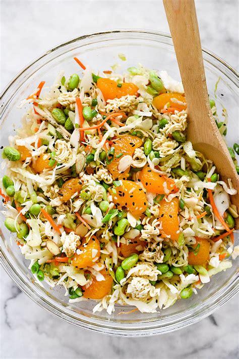 easy noodle salad asian ramen noodle salad recipe foodiecrush com