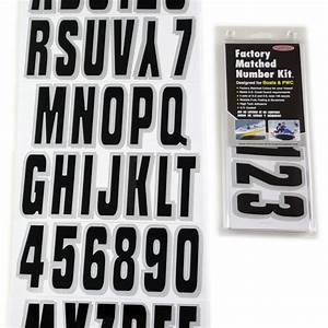 black silver boat lettering registration numbers 320 With boat lettering kit