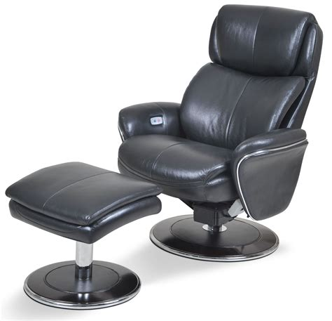 ergonomic leather slate chair ottoman from cozzia ac520