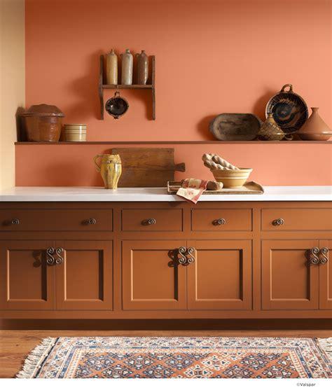 orange wall  bring extra rustic warmth