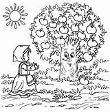 Coloring Apple Tree Pages Orchard Happy Drawing Printable Apples Getcolorings Plain Getdrawings Colori sketch template