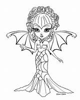 Coloring Pages Deviantart Halloween Zinnia Jade Fairy Dragonne Flower Monster Sheets Medieval Jadedragonne Lineart Adult Books Printable Witch Gothic Chibi sketch template