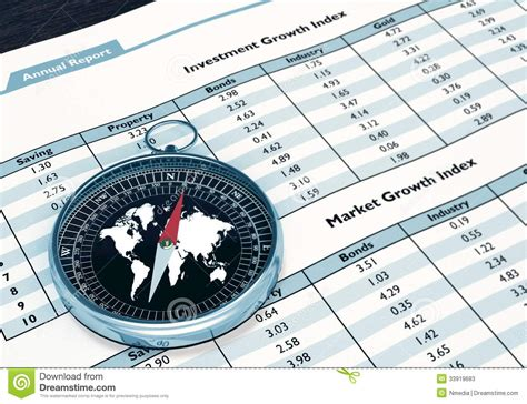 Bausparvertrag Finanz Kompass by Compass And Financial Report Stock Photos Image 33919683