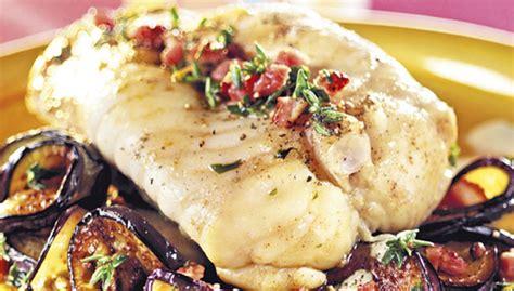cuisiner queue de lotte recette gigot de queue de lotte aux aubergines facile pour 6 personnes