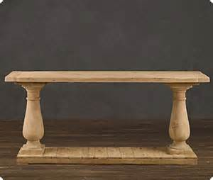 Rh Sofa by Wood Columns Console Table