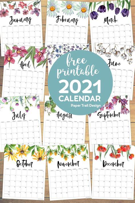printable calendar floral