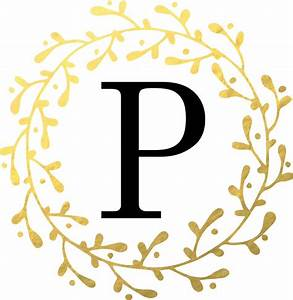 quotmonogram letter p personalised black and gold design With monogram letter p
