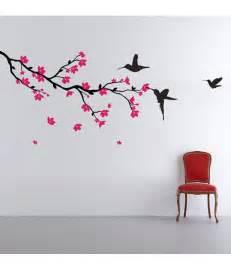 stickerskart hummingbirds and blossoms print pvc wall stickers buy stickerskart hummingbirds