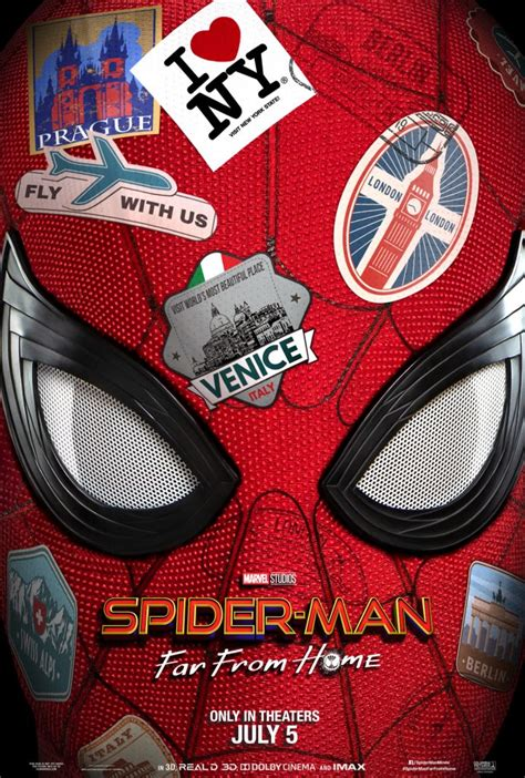 spider man   home poster teases peter parkers