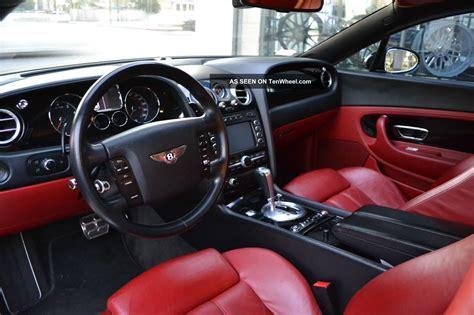 bentley continental gt coupe  door   jet black red interior