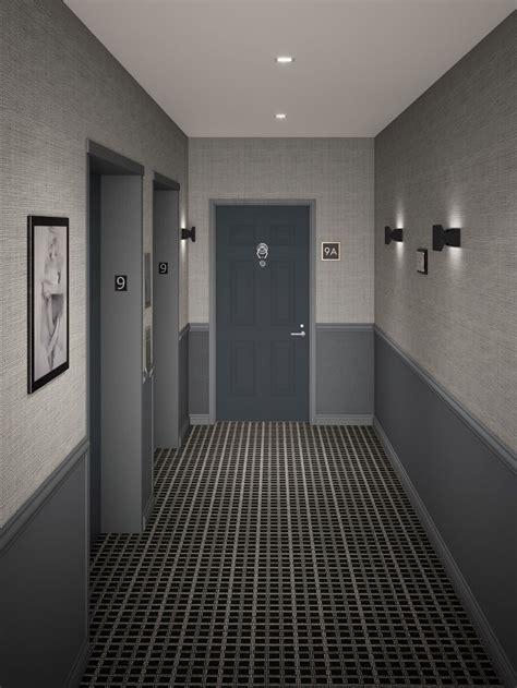 Contemporary Hallway Interior Designer in NYC at Jonathan Baron