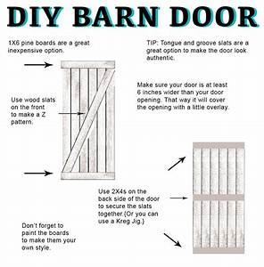 diy barn door instructions and hardware With barn door installation guide