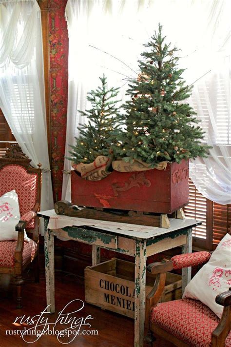 1000 ideas about primitive christmas decorating on