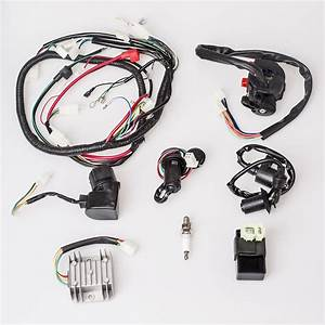 Atv Complete Electric Wiring Harness Assembly For Gy6