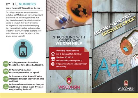 adderall facts tri fold brochure brittany johnson