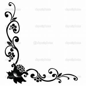 Simple Black Flower Borders   www.imgkid.com - The Image ...