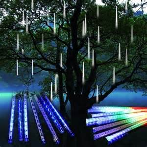 8 falling rain drop icicle snow fall string led xmas tree cascading light decor ebay