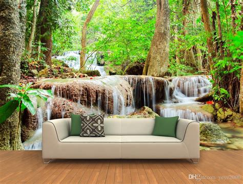 photo wallpaper natured hd quiet forest waterfall
