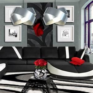 Beautiful Idee Deco Salon Blanc Gris Rouge Gallery House