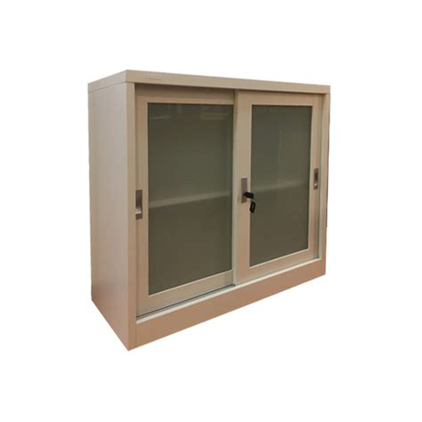 Sliding Glass Cupboard Doors by Half Height Glass Sliding Door Cabinet Col White