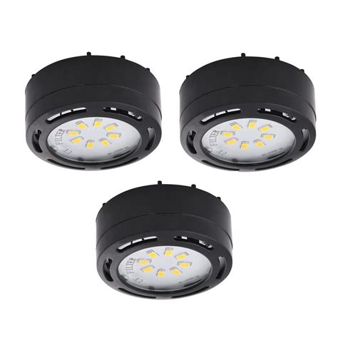 shop amax lighting 3 pack 2 625 in in cabinet